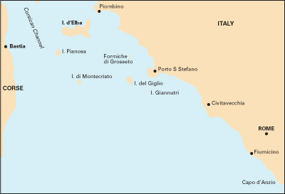 North Tuscan Islands to Rome