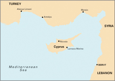 South Coast of Turkey, Syria, Lebanon & Cyprus