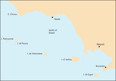 Isole Pontine to the Bay of Naples